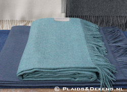 Plaid Baby alpaca ocean blue