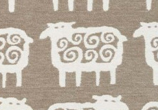 Deken Black sheep beige patroon