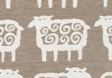 Deken Black sheep beige patroon