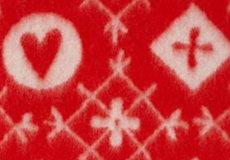 Deken Fjallnas rood dessin