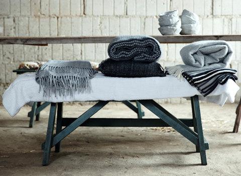 Wafel deken wit