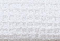Wafel deken wit detail