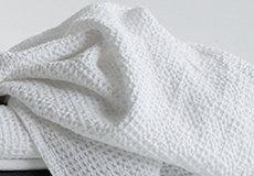 Wafel deken wit sfeer