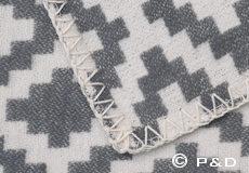 Plaid Diamonds grijs feston steek