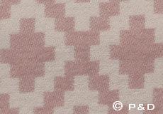 Plaid Diamonds pale pink detail