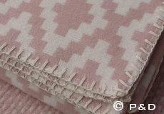 Plaid Diamonds pale pink franjes