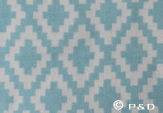 Plaid Diamonds surf green detail