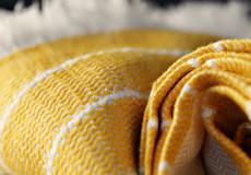 Plaid Wave honeybee detail