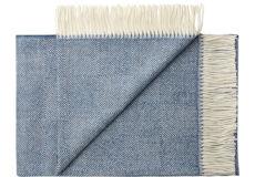 Plaid baby alpaca jeans blue franjes