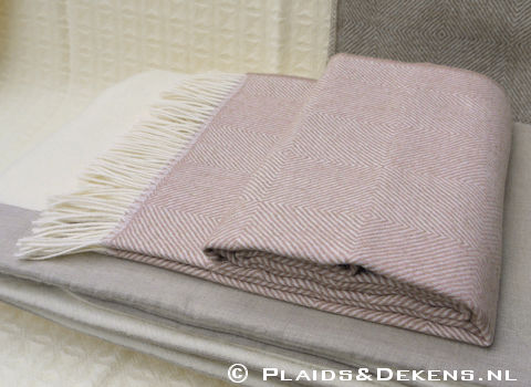 Plaid Baby alpaca Diamant rose