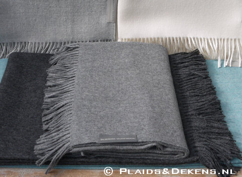 Plaid Baby alpaca grey
