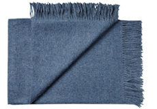 Plaid baby alpaca jeans blue detail