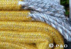 Plaid Bjork geel franjes