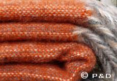 Plaid Bjork oranje franjes