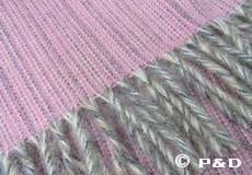 Plaid Bjork roze franjes