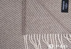 Plaid Classic wool bruin franjes