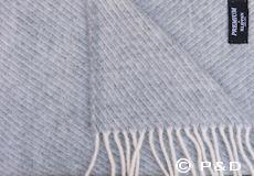 Plaid Classic wool grijs franjes