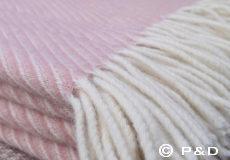 Plaid Classic wool roze franjes