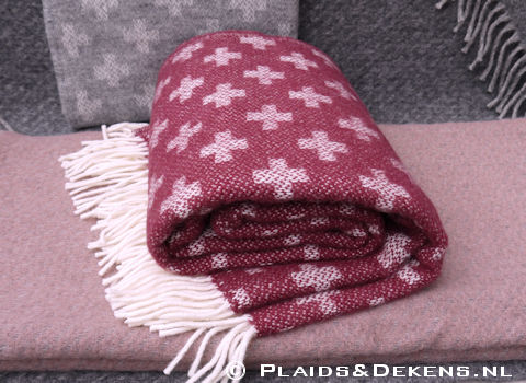 Plaid Cross cherry