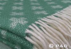 Plaid Cross green franjes