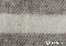 Plaid Danaja 3 strepen grijs detail