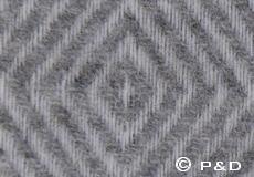 Plaid Danaja diamant grijs detail