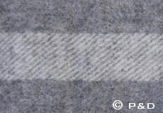 Plaid Danaja dubbele streep grijs detail