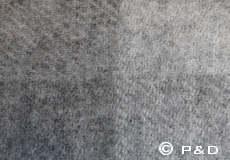 Plaid Danaja grote ruit grijs detail