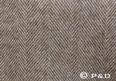 Plaid Danaja Herringbone bruin detail