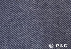 Plaid Diamant blue detail