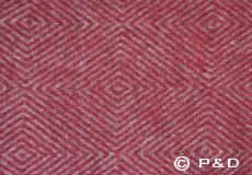 Plaid Diamant rood detail
