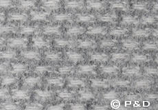 Plaid Domino lichtgrijs detail