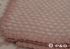 Plaid Domino roze franjes