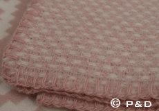 Plaid Domino roze franjes
