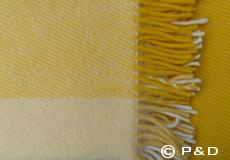 Plaid Field geel detail