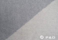 Plaid Focus on Twill lichtgrijs detail
