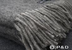 Plaid Fogg lightgrey franjes