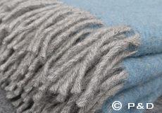 Plaid Fogg nordic blue franjes