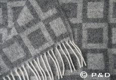 Plaid Frame grijs detail