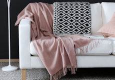Plaid Gobi pale pink combinatie