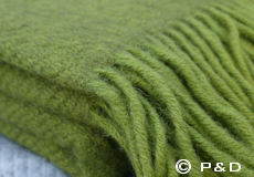 Plaid Gotland groen franjes