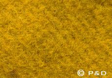 Plaid Gotland mosterd geel detail