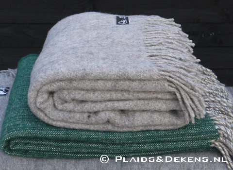 Plaid Gotland natural grey