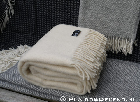 Plaid Gotland natural white