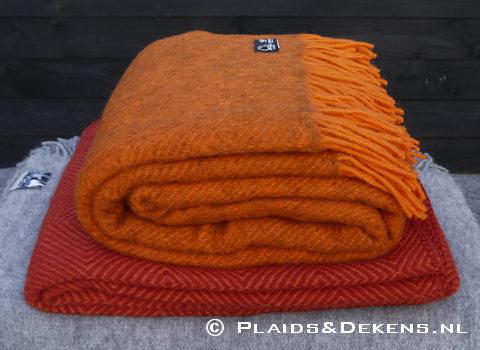 Plaid Gotland oranje