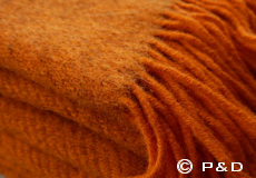 Plaid Gotland oranje franjes