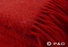 Plaid Gotland rood franjes
