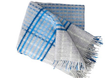 Klippan Plaid Graffiti blue