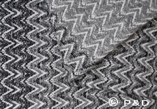 Plaid Granada zwart detail