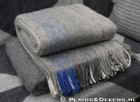Plaid Gute blue grey